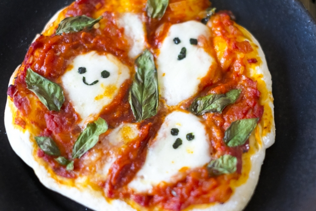 ハロウィン用手作りピザ