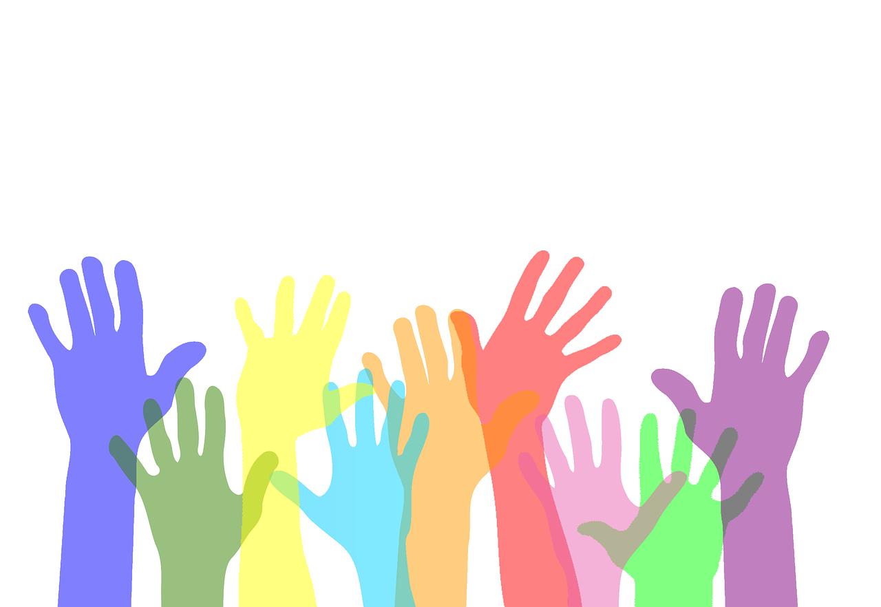 ボランティア活動に参加する人々のイラスト