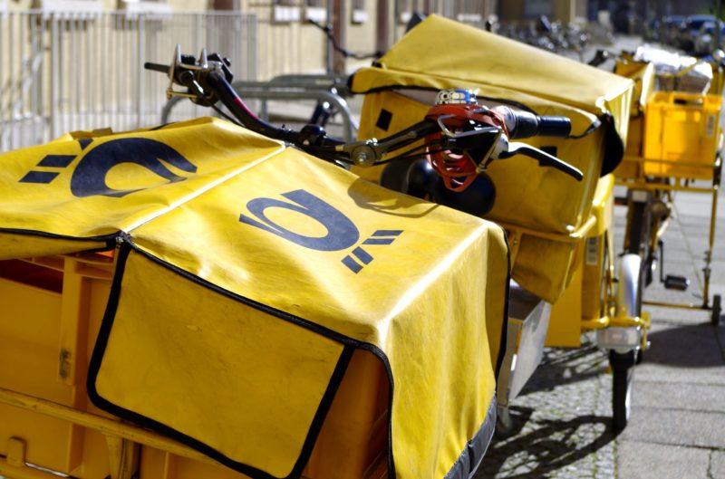 アルバイト先の郵便配達の自転車