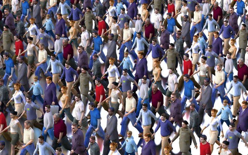 大勢の社員のイメージ