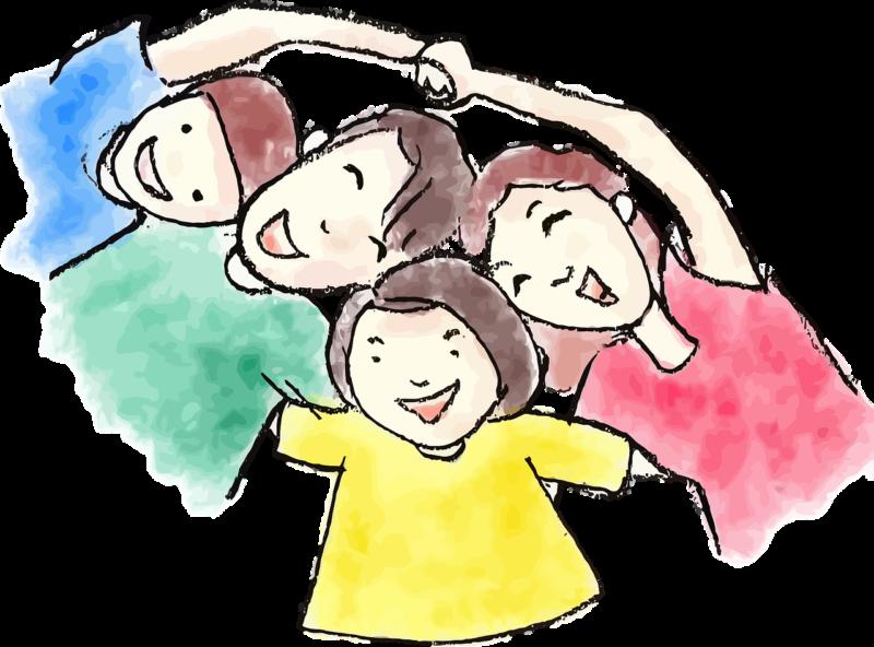 幸せ家族のイラスト