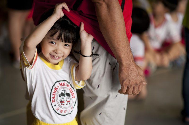 幼稚園の体操の時間