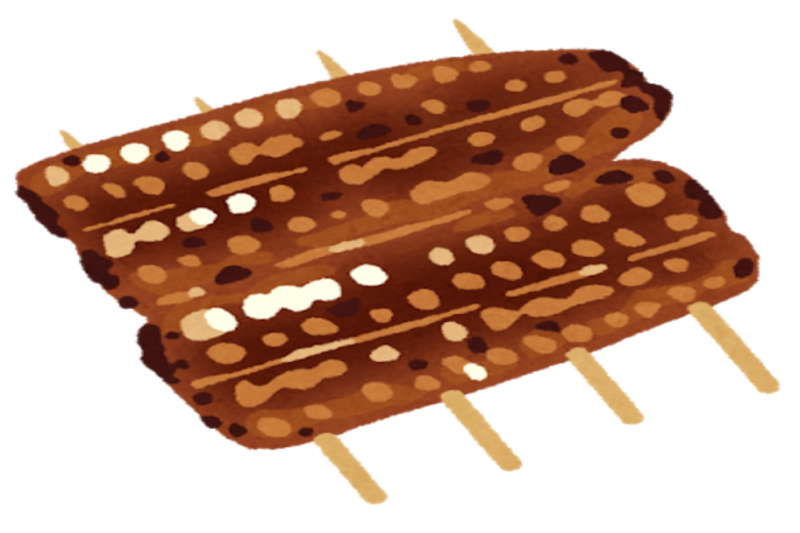うなぎの蒲焼イラスト