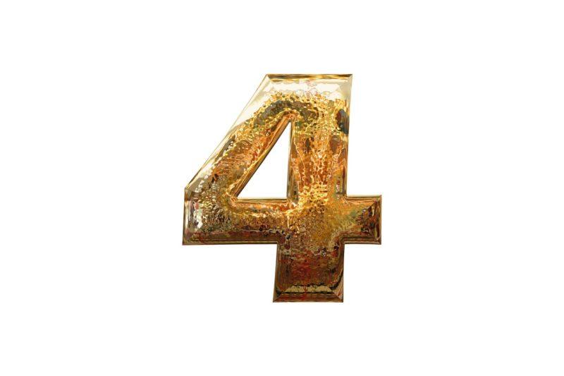 4選をあらわす数字の4