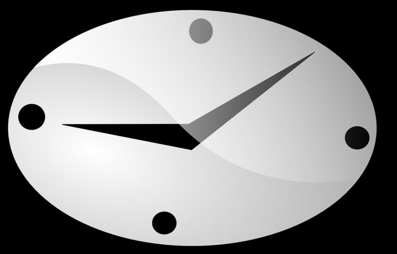 タイミングを意味する時計のイラスト