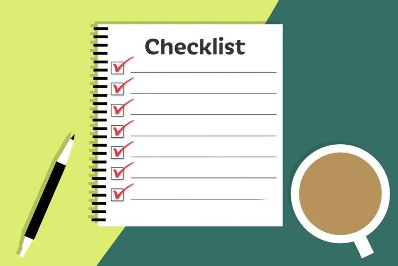 転職活動のチェックリスト