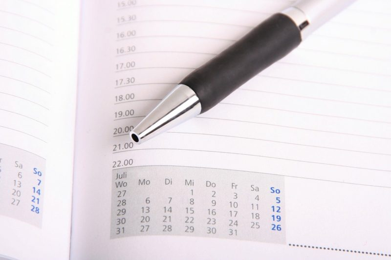 退職までのスケジュール表