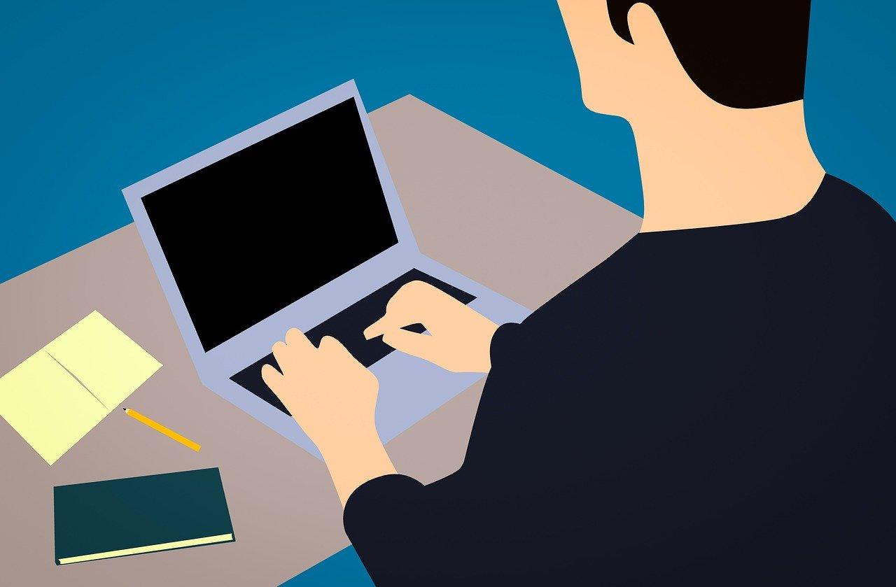 会社貸与のパソコンを初期化しようとしている