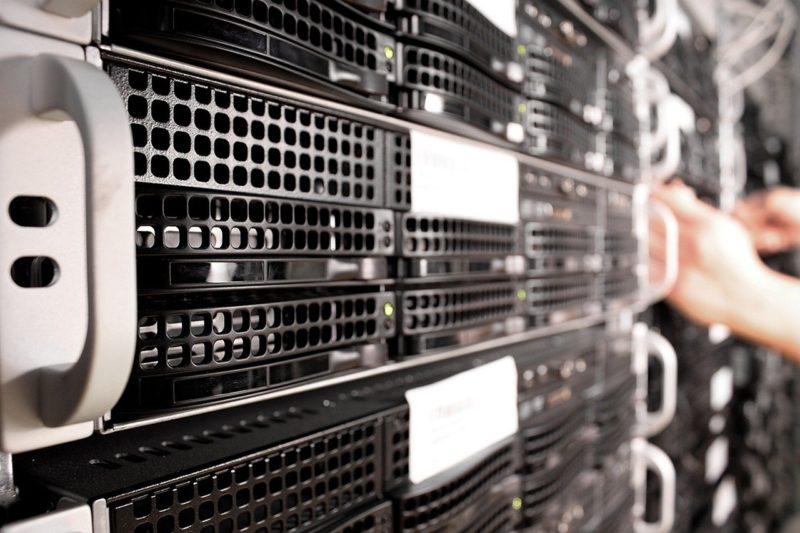 業務に使用するデータを管理しているサーバー