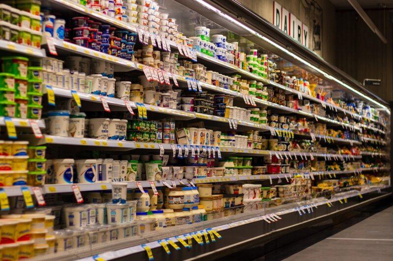 勤務先のスーパーマーケット